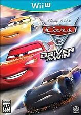 Wii U Cars 3 Driven to Win Disney Pixar NEW Sealed NTSC N & S America Racing