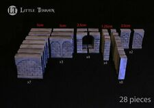 Dungeon Wall Set - compatible with Dwarven Forge - Hirst Arts - D&D - Warhammer