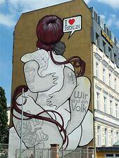 ART PRINT POSTER FOTO MURALE Graffiti Street Art Berlino LOVE nofl0155