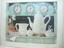 Janet Kruskamp Shabby Chic Framed Art Print Time for Coffee 33x28 Cottage