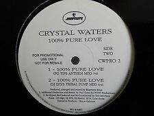 "MAXI 12"" CRYSTAL WATERS 100% pure love CWPRO2 PROMO"