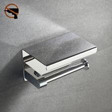 Edelstahl Toilettenpapierhalter Wandbefestigung Klopapierhalter ohne bohren DHL