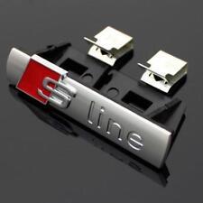 For Audi Sline Front Grille Badge Blac Car External Accessory Logo Emblem Chrome