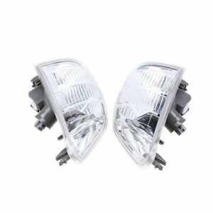 Pair Front Side Clear Corner Turn Signal Light For Nissan X-TRAIL T30 2001-2007