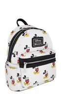 Disney Loungefly White Mickey Mouse Character Mini Leather Backpack Purse