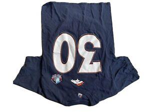 Majestic Denver Broncos Pro Football Hall of Fame T-Shirt  Davis #30  SZ Medium