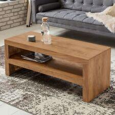 Massiver Couchtisch Holz Massiv Dunkel 110cm Design Wohnzimmertisch Akazie Tisch