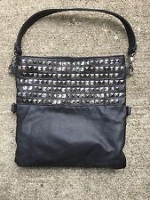 Black Studed folding purse Unique Handbag clutch