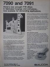 11/1982 PUB ALCOA FORGING ALUMINIUM STEEL ALLOY BOEING 757 MAIN LANDING GEAR AD
