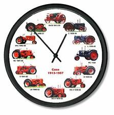 "New Rc Case 1913-1957 Tractor Wheel Dial Clock 12 Vintage Tractors 10"""