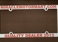 MIRACLE MOTORMAR AUTO DEALERSHIP LICENSE PLATE CAR TAG FRAME-PLASTIC-COLUMBUS OH