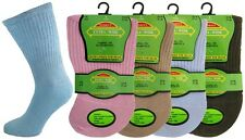 Ladies Extra Wide Comfort Fit for Diabetics Oedema Socks Medical Size 4-8 Pink Mix 6 Pairs