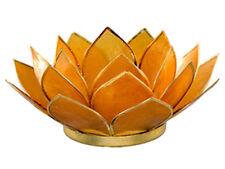 Capiz Shell Amber Lotus  Tealight flower free tea light by OM Gallery
