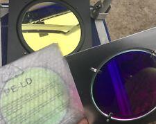 Glass dichroic gels for Par 64 or Par 56 theatre lighting, various colours - new