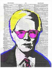 Art N Words Andy Warhol Colors Original Dictionary Page Pop Art Print