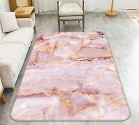 3D Pink Marble 3 Non Slip Mat Rug Room Mat Quality Elegant Photo Carpet AU