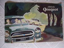 CATALOGUE PEUGEOT 403  . 20 X 29 cm