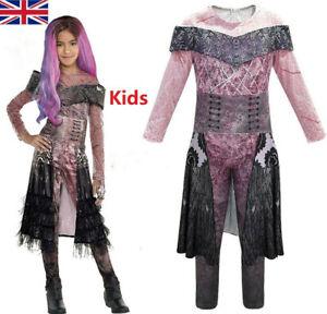 Kids Descendants 3 Mal Evil Carlos Christmas Costume Jumpsuit Fancy Dress Outfit