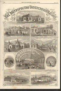 #01-0224 12/27/1862  ANTIQUE PRINT (TRAINS) - METROPOLITAN UNDERGROUND RAILWAY