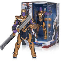 Marvel Avengers Endgame Armor Thanos Action Figure Toys With Sword New 20cm
