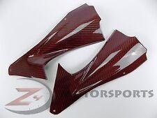2006 2007 R6 Front Dash Air Duct Cover Fairing Panel Trim 100% Carbon Fiber Red