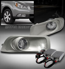 10 11 12 SUBARU OUTBACK BUMPER FOG LIGHT LAMP CHROME W/50W 6K HID KIT LEFT+RIGHT
