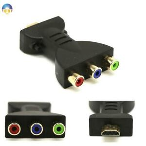HDMI Gold-plated Male to 3 RGB RCA Video Audio Adapter AV Converter 1080P New
