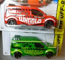 Lot of 2 Color Variations 2015 HOT WHEELS FORD TRANSIT CONNECT #98