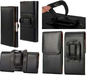 For Nokia 1 2 3 5 6 7 8 Black Belt Buckle Clip Loop Tradesman Case Cover Pouch