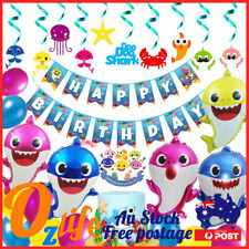 Deluxe Pinkfong Baby Shark Balloons Set Air Inflatable Birthday Party Decoration