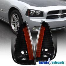 For 2006-2010 Dodge Charger Black Signal Corner Lights Parking Side Maker Lamps
