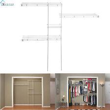 Closet Organizer Shelves System Kit Shelf Wardrobe Clothes Hanger Rack Storage