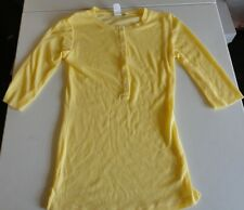 Women's Yellow 3/4 Sleeve 6 Button Top size M by Junk Food Brand NWD