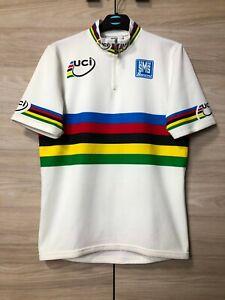 UCI World Champion Cycling Bike Jersey Shirt SMS Santini Men's size M