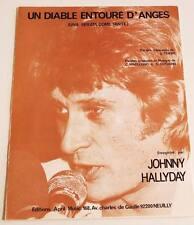 Partition sheet music JOHNNY HALLYDAY : Un Diable Entouré d'Anges * 80's