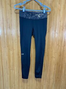 Under Armour Heat Gear Leggings - CU Buffs - Black/Gold - Women's M