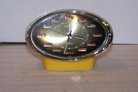 Vintage Caravelle 2 Jewels Mechanical Space Age Desk Alarm Clock MCM