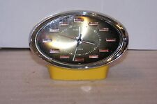 Vintage Caravelle 2 Jewels Mechanical Space Age Desk Alarm Clock MCM