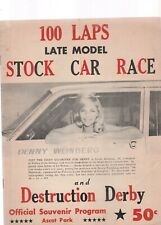 ASCOT RACEWAY LATE MODEL STOCK CARS AND DEMOLITION DERBY 1964 PROGRAM