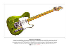 Francis Rossi's Fender Telecaster Limited Edition Fine Art Print A3 size