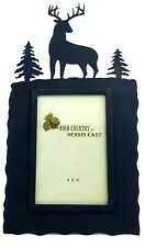 Gift Rustic Decor Deer 4x6 Picture Frame Lodge Woods Cabin Mountains Nature Meta