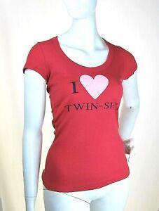 T-Shirt Maglietta Donna Maglia TWIN-SET Simona Barbieri Italy H426 Rosso S/M