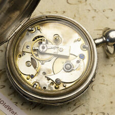 REPEATING FUSEE Silver Cased Antique Pocket Watch - non Verge