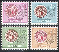 France 1975 Coins/Money/Commerce/Pre-cancel/History 4v set (n40243)