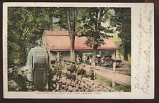 Postcard NEW LONDON Connecticut/CT  Old Town Mill w/Wiard Plow Sign 1906