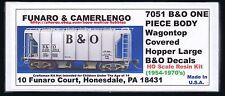 LMH Funaro F&C 7051  B&O BALTIMORE & OHIO Wagontop Covered Hopper 1954-70's 1-PC