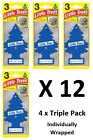 12 X Magic Tree Little Trees Car Air Freshener - NEW CAR SMELL (4 x 3 Pack)