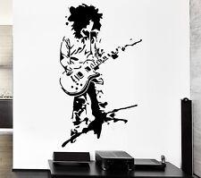 Wall Sticker Music Rock Guitar Star Cool Pop Art For Living Room z2605