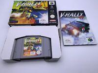 Nintendo 64 💎V-Rally Edition 99💎 N64 Game with Manual 🌟PAL🌟