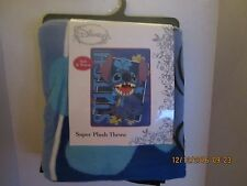 Disney LILO STITCH Plush Soft Fleece Blanket Throw  Bedding  46 x 60 New